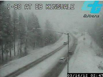 Kingvale on I-80... not even at the summit yet.