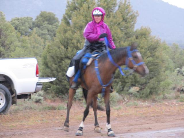 Off on the last loop in the rain, photo from Lucy Trumbull