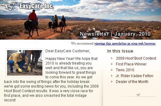 EasyCare January Newsletter