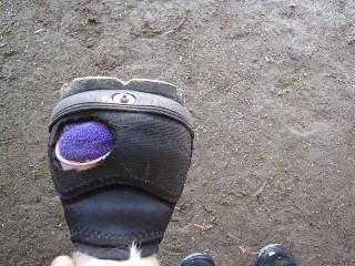 Glove boot modification