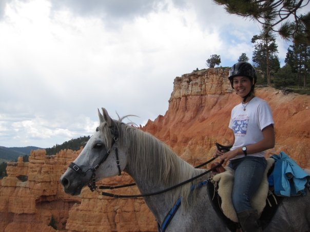 Riding a booted horse at the Bryce Canyon XP Ride