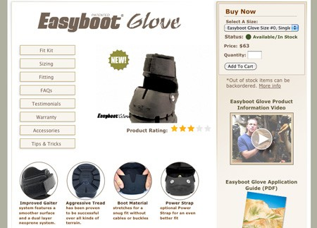 The New Easyboot Glove Web Page