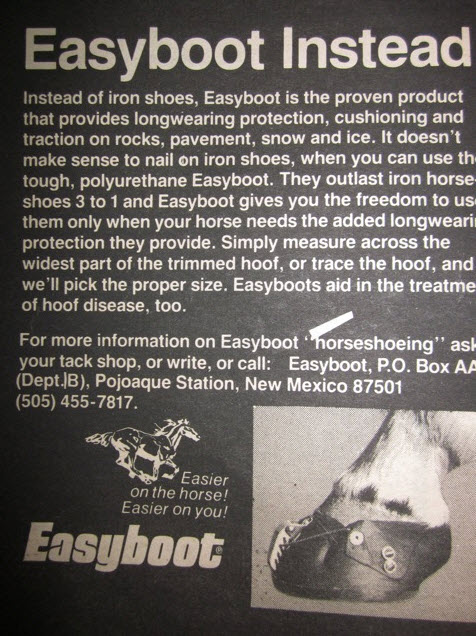 1970s Easyboot advert
