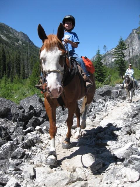 Bridger Christensen taking on the trail!