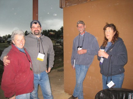 AHA attendees (from left) Ida Hammer, Matt Jenkins, Mark Rudenborg, AdaUphoff