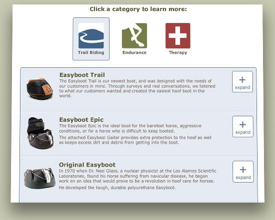 EasyCare Our Boots Page