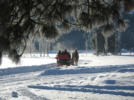snow carriage ride