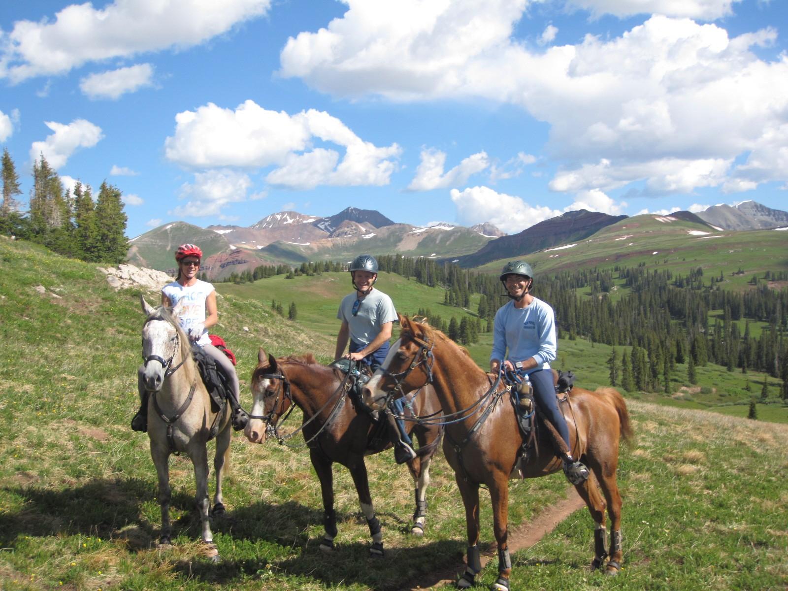 Lisa, Kevin and Rusty at 12,000 feet
